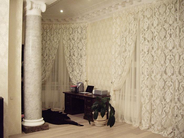 Тюль сетка с вышивкой для зала фото 93